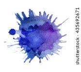 abstract watercolor stain with... | Shutterstock .eps vector #435692671