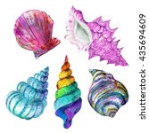 Watercolor Colorful Set Of ...