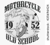 biker fashion typography ... | Shutterstock . vector #435696424