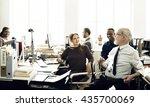 business marketing team... | Shutterstock . vector #435700069