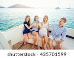 friendship and vacation. party... | Shutterstock . vector #435701599