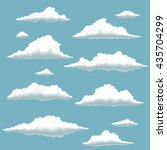 set of clouds on blue... | Shutterstock .eps vector #435704299