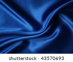 Smooth Elegant Dark Blue Silk...