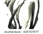 Abstract Black Ink Stain....