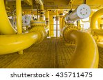 shut down valve   sdv   and sea ... | Shutterstock . vector #435711475