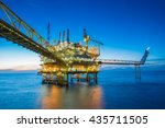 oil and gas production platform ... | Shutterstock . vector #435711505