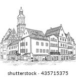 street with buildings and cafe... | Shutterstock .eps vector #435715375