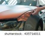 pasting of car carbonic plastic ... | Shutterstock . vector #435716011