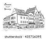 street corner with buildings... | Shutterstock .eps vector #435716395