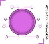 digital microchip frame. purple ...