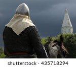 horseman in armor on a... | Shutterstock . vector #435718294