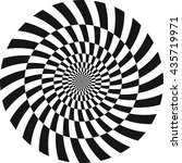 spiral optical illusion pattern ... | Shutterstock .eps vector #435719971
