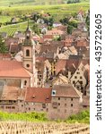 Small photo of Riquewihr in the heart of the Alsatian vineyard Alsace France