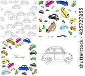 set of car background. vector...   Shutterstock .eps vector #435727855