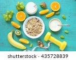 homemade yogurt with granola... | Shutterstock . vector #435728839