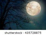 milky way star in night skies ... | Shutterstock . vector #435728875