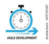 agile development stopwatch... | Shutterstock .eps vector #435729187
