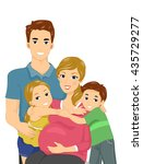 illustration of a happy family...   Shutterstock .eps vector #435729277