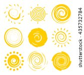 doodle suns isolated on white...