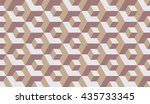 seamless beige op art isometric ...   Shutterstock .eps vector #435733345
