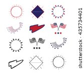 vector logos and labels flag...   Shutterstock .eps vector #435734401