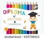 certificate kids diploma ... | Shutterstock .eps vector #435738421