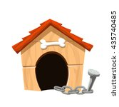 dog house isolated | Shutterstock .eps vector #435740485