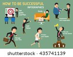 set of successful businessman... | Shutterstock .eps vector #435741139