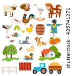 set of farming live animals | Shutterstock .eps vector #435741271