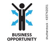 business opportunity  icon and... | Shutterstock .eps vector #435742051