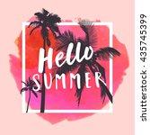 hello summer. modern... | Shutterstock . vector #435745399