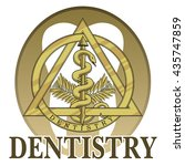 dentistry symbol design is an... | Shutterstock .eps vector #435747859