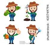 cute set   set of gardener | Shutterstock .eps vector #435749794