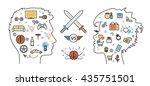 flat line design concept of... | Shutterstock .eps vector #435751501