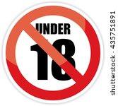 no 18 years old  under eighteen ... | Shutterstock .eps vector #435751891