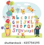 Funny Monsters English Alphabet