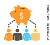 people working together to fund ... | Shutterstock .eps vector #435770881