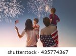 patriotic holiday. happy family ... | Shutterstock . vector #435774367