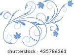 floral background with... | Shutterstock .eps vector #435786361