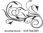 floral background with... | Shutterstock .eps vector #435786589