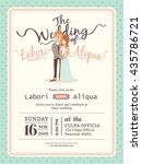 wedding couple groom and bride...   Shutterstock .eps vector #435786721