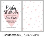 baby shower girl and boy... | Shutterstock .eps vector #435789841