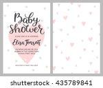 baby shower girl and boy... | Shutterstock .eps vector #435789841