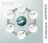 let's save the earth  ecology... | Shutterstock .eps vector #435799375