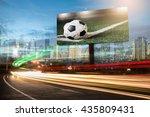 billboard blank for outdoor...   Shutterstock . vector #435809431