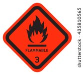 danger flammable sign | Shutterstock .eps vector #435810565