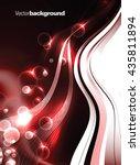 abstract shiny vector... | Shutterstock .eps vector #435811894
