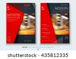 brochure design. corporate... | Shutterstock .eps vector #435812335