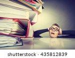 a lot of work and overwork... | Shutterstock . vector #435812839