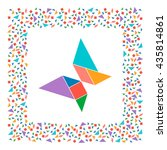 tangram  butterfly. abstract... | Shutterstock .eps vector #435814861